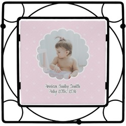 Baby Girl Photo Square Trivet (Personalized)