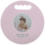 Baby Girl Photo Stadium Cushion (Round) (Personalized)