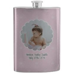 Baby Girl Photo Stainless Steel Flask (Personalized)