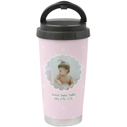 Baby Girl Photo Stainless Steel Travel Mug (Personalized)