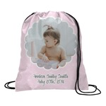 Baby Girl Photo Drawstring Backpack (Personalized)