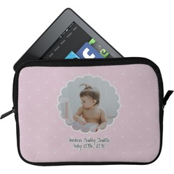 Baby Girl Photo Tablet Case / Sleeve (Personalized)