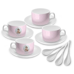Baby Girl Photo Tea Cup - Set of 4 (Personalized)