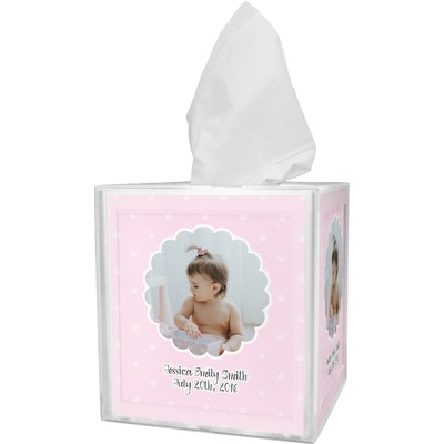 Baby Girl Photo Tissue Box Cover (Personalized)