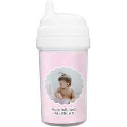 Baby Girl Photo Toddler Sippy Cup (Personalized)
