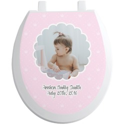 Baby Girl Photo Toilet Seat Decal (Personalized)