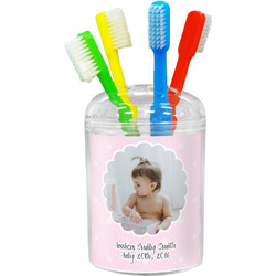 Baby Girl Photo Toothbrush Holder (Personalized)