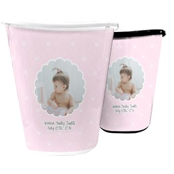 Baby Girl Photo Waste Basket (Personalized)