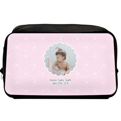Baby Girl Photo Toiletry Bag / Dopp Kit (Personalized)