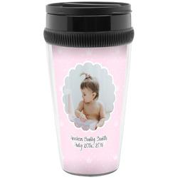 Baby Girl Photo Travel Mugs (Personalized)