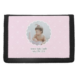 Baby Girl Photo Trifold Wallet (Personalized)