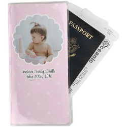 Baby Girl Photo Travel Document Holder