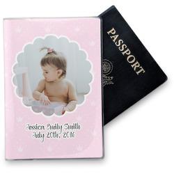 Baby Girl Photo Vinyl Passport Holder (Personalized)