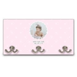 Baby Girl Photo Wall Mounted Coat Rack (Personalized)