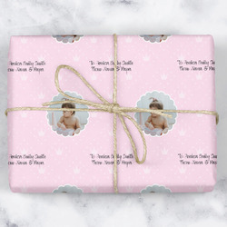 Baby Girl Photo Wrapping Paper