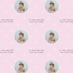 Baby Girl Photo Wrapping Paper (Personalized)