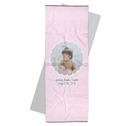 Baby Girl Photo Yoga Mat Towel (Personalized)