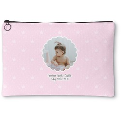Baby Girl Photo Zipper Pouch (Personalized)