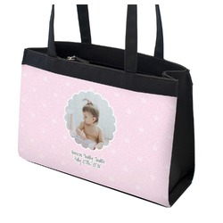 Baby Girl Photo Zippered Everyday Tote (Personalized)