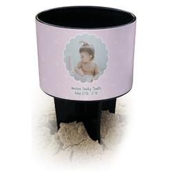 Baby Girl Photo Black Beach Spiker Drink Holder (Personalized)