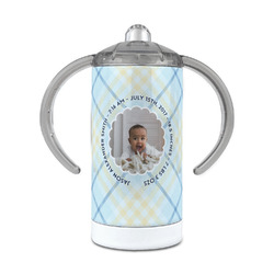 Baby Boy Photo 12 oz Stainless Steel Sippy Cup