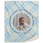 Baby Boy Photo Sherpa Throw Blanket (Personalized)