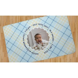 Baby Boy Photo Area Rug (Personalized)