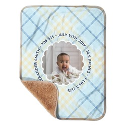 "Baby Boy Photo Sherpa Baby Blanket 30"" x 40"" (Personalized)"