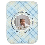 Baby Boy Photo Baby Swaddling Blanket (Personalized)