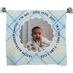 Baby Boy Photo Full Print Bath Towel (Personalized)