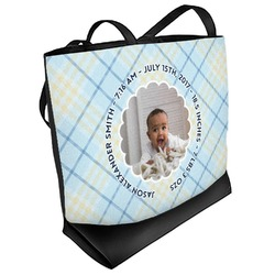 Baby Boy Photo Beach Tote Bag (Personalized)