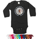 Baby Boy Photo Long Sleeves Bodysuit - 12 Colors (Personalized)