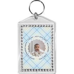 Baby Boy Photo Bling Keychain (Personalized)