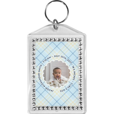 Baby Boy Photo Bling Keychain (Personalized)
