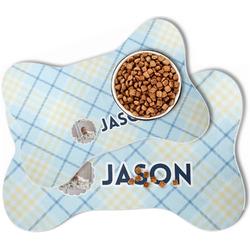 Baby Boy Photo Bone Shaped Dog Food Mat (Personalized)