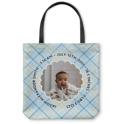 Baby Boy Photo Canvas Tote Bag (Personalized)