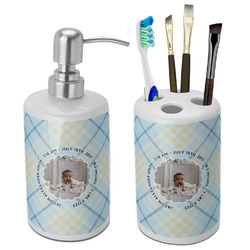 Baby Boy Photo Bathroom Accessories Set (Ceramic) (Personalized)
