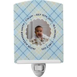 Baby Boy Photo Ceramic Night Light (Personalized)
