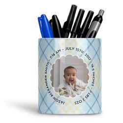 Baby Boy Photo Ceramic Pen Holder
