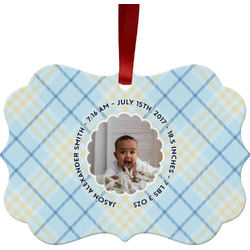 Baby Boy Photo Ornament (Personalized)