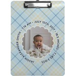Baby Boy Photo Clipboard (Personalized)