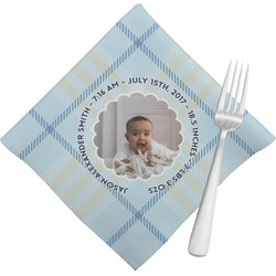 Baby Boy Photo Cloth Napkins (Set of 4) (Personalized)