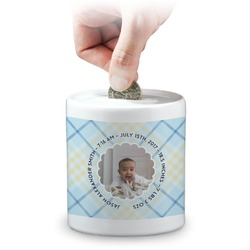 Baby Boy Photo Coin Bank (Personalized)