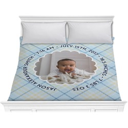 Baby Boy Photo Comforter - King (Personalized)