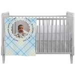 Baby Boy Photo Crib Comforter / Quilt (Personalized)