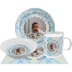 Baby Boy Photo Dinner Set - 4 Pc (Personalized)