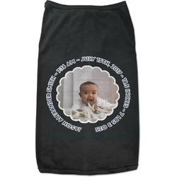 Baby Boy Photo Black Pet Shirt - Multiple Sizes (Personalized)