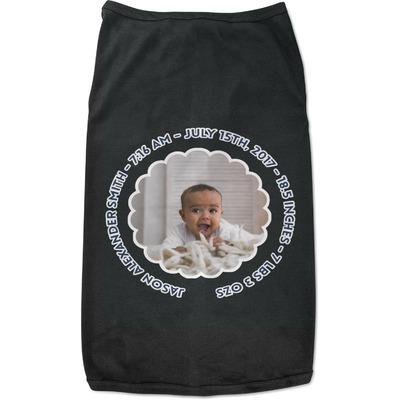 Baby Boy Photo Black Pet Shirt (Personalized)