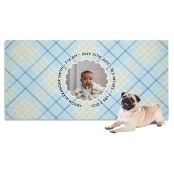 Baby Boy Photo Dog Towel (Personalized)