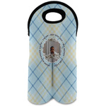 Baby Boy Photo Wine Tote Bag (2 Bottles) (Personalized)